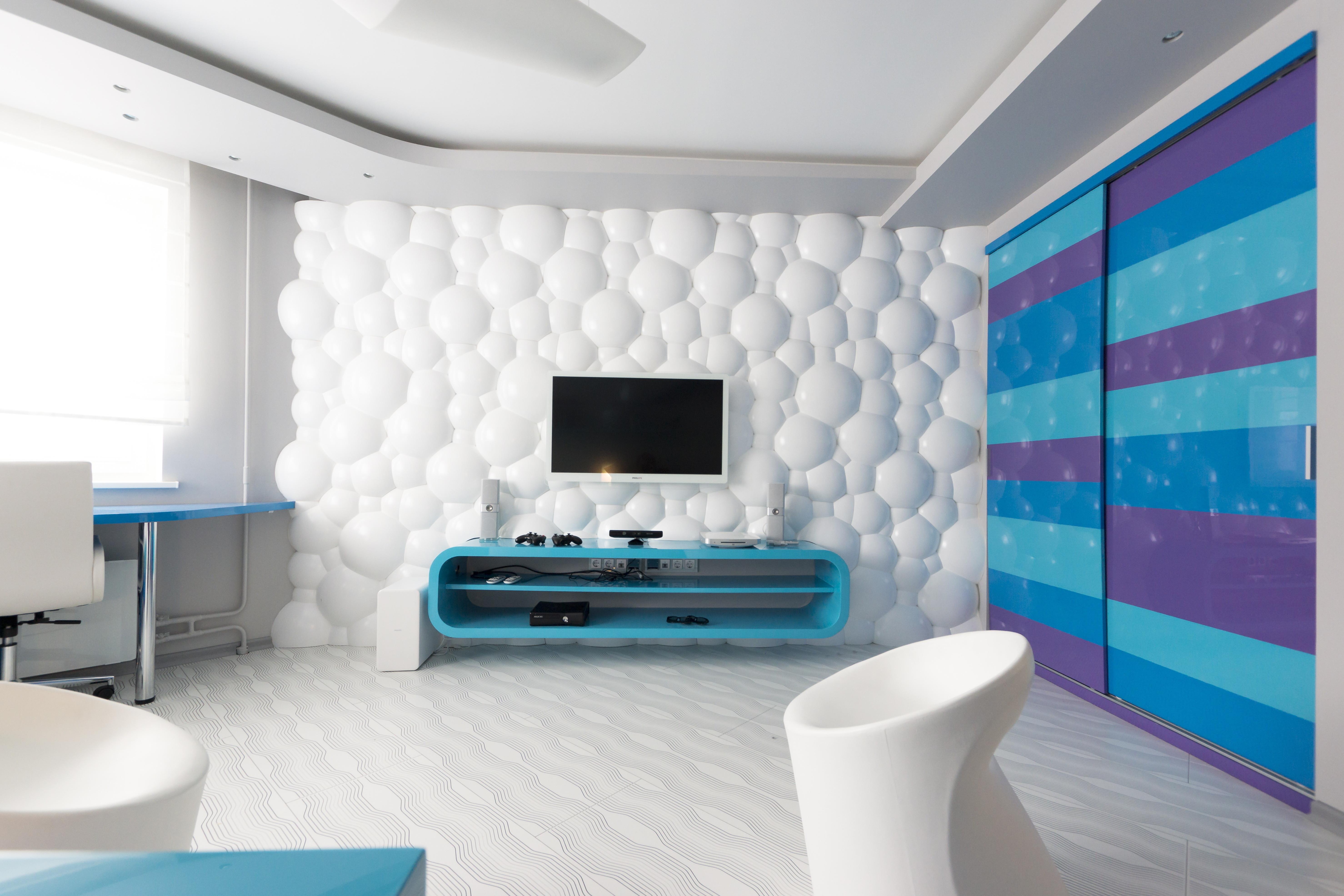 Дизайн стен с 3д панелями